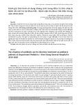 Đánh giá tình hình sử dụng kháng sinh trong điều trị tiêu chảy ở bệnh nhi nội trú tại Khoa Nhi - Bệnh viện Đa khoa tỉnh Kiên Giang năm 2019-2020