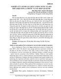 Nghiên cứu, đánh giá chất lượng nước của hồ thủy điện Sơn La trước và sau khi vận hành