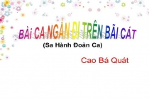 Sưu tầm các bài văn mẫu hay về bài thơ Sa hành đoản ca của Cao Bá Quát
