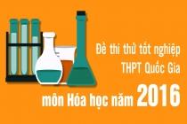 Bộ sưu tập đề thi thử THPT Quốc gia năm 2016 môn Hóa