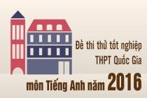 Bộ sưu tập đề thi thử THPT Quốc gia năm 2016 môn Tiếng Anh