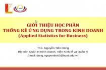 Trọn bộ Bài giảng Thống kê ứng dụng trong kinh doanh