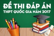 Đề thi Đáp án kì thi THPT Quốc gia năm 2017