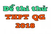 Bộ đề thi thử THPT Quốc gia lần 1 năm 2018 của Sở GD&ĐT Nghệ An