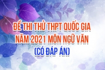 Đề thi thử THPT Quốc gia 2021 môn Văn (Có đáp án)