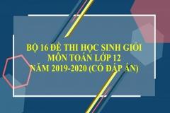 Bộ đề thi HSG Toán lớp 12 năm 2019-2020 (Có đáp án)