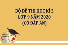 Đề thi học kì 2 lớp 9 năm 2020 (Có đáp án)