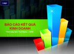 Mẫu slide powerpoint Báo cáo kết quả kinh doanh