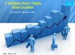 Mẫu slide powerpoint các ý tưởng phát triển kinh doanh