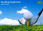 Hình nền powerpoint về golf