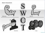 Mẫu powerpoint phân tích SWOT có hình minh họa