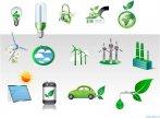 Biểu tượng minh họa  về năng lượng xanh và bảo vệ môi trường