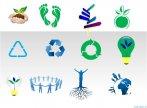 Biểu tượng minh họa về năng lượng xanh
